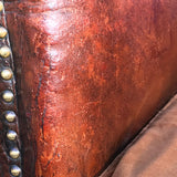 Early 20th Century Leather Armchair - Detail of Leather - 3