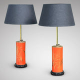 Pair of Early 20th Century Adjustable Lamps in Japanese Style - Main View - 1