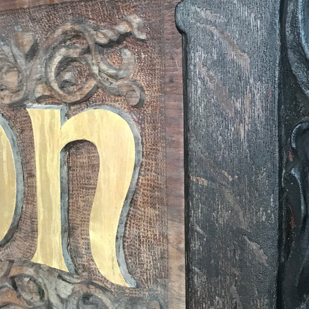 Large 19th Century Shop Sign - Detail View of Letters - 5