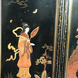 Large 19th Century Chinoiserie Folding Firescreen - Side Detail View - 4