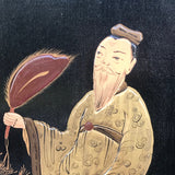 Large 19th Century Chinoiserie Folding Firescreen - Detail View - 6