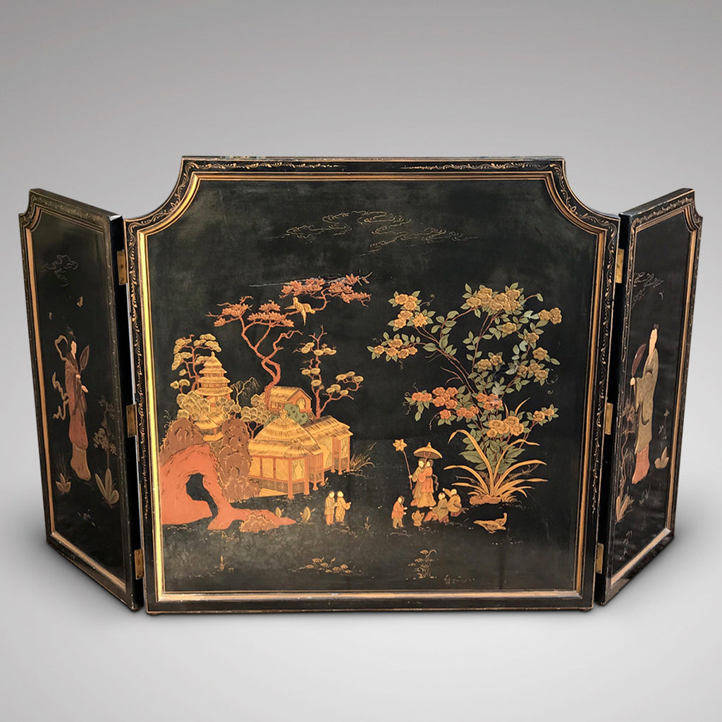 Large 19th Century Chinoiserie Folding Firescreen - Main View - 1