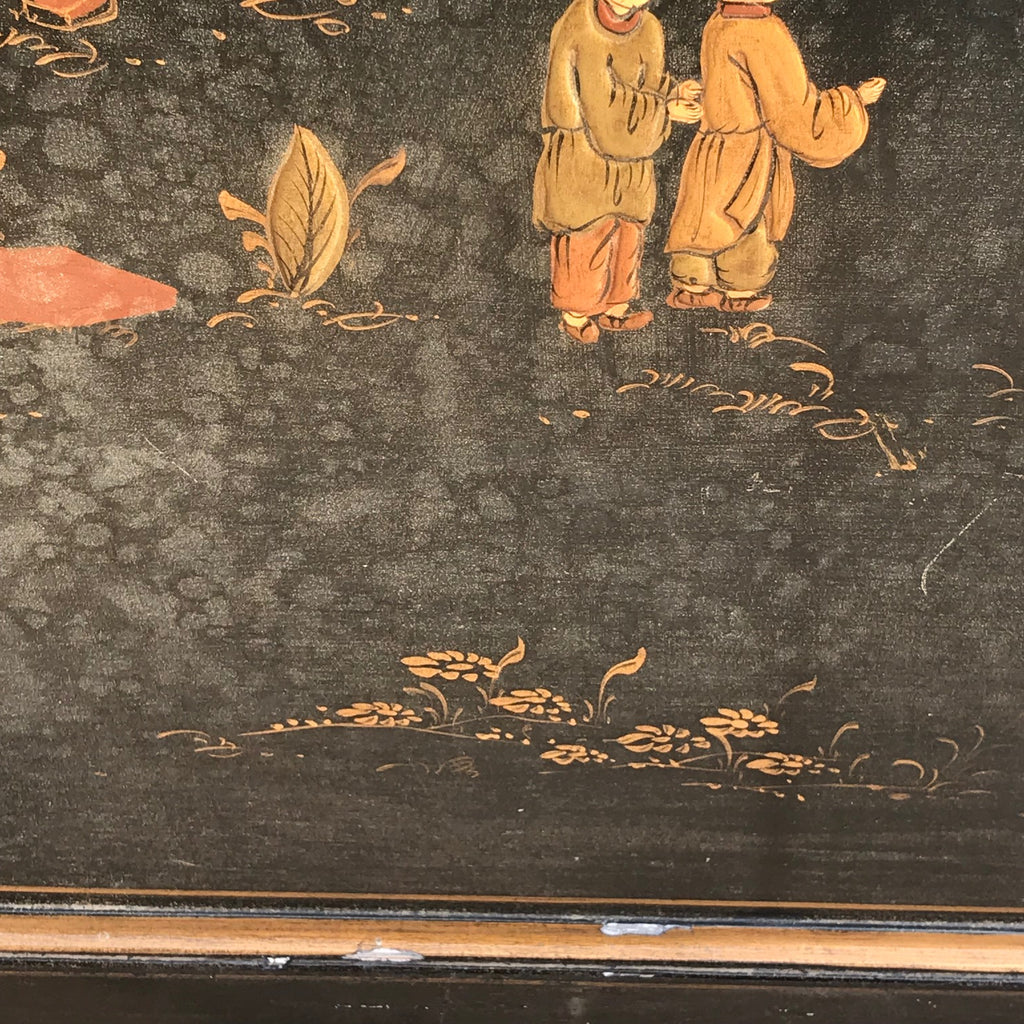 Large 19th Century Chinoiserie Folding Firescreen - Detail View of Decoration - 10