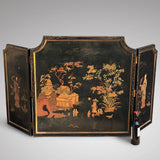 Large 19th Century Chinoiserie Folding Firescreen - Main View - 2