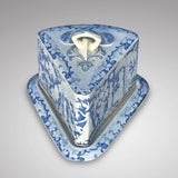 Large 19th Century Blue & White Cheese Dish - Main View - 2