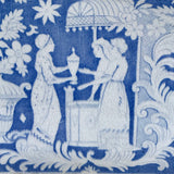 Large 19th Century Blue & White Cheese Dish - Pattern Detail - 3