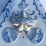Large 19th Century Blue & White Cheese Dish - Finial Detail - 6