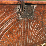 Small 17th Century Oak Coffer - Detail View - 3