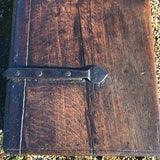Small 17th Century Oak Coffer - Hinge Detail View - 5