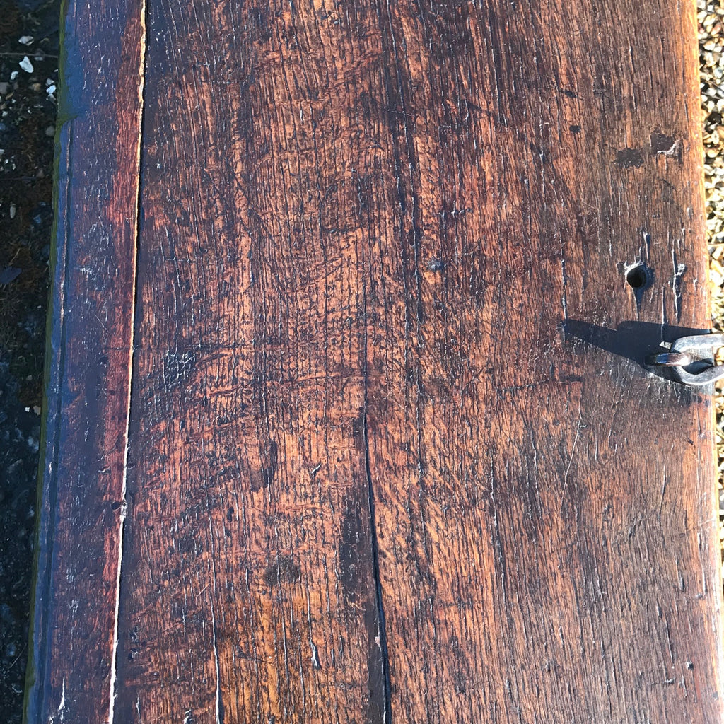 Small 17th Century Oak Coffer - Top View - 4