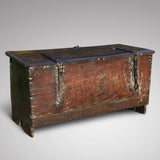 Small 17th Century Oak Coffer - Back View - 2