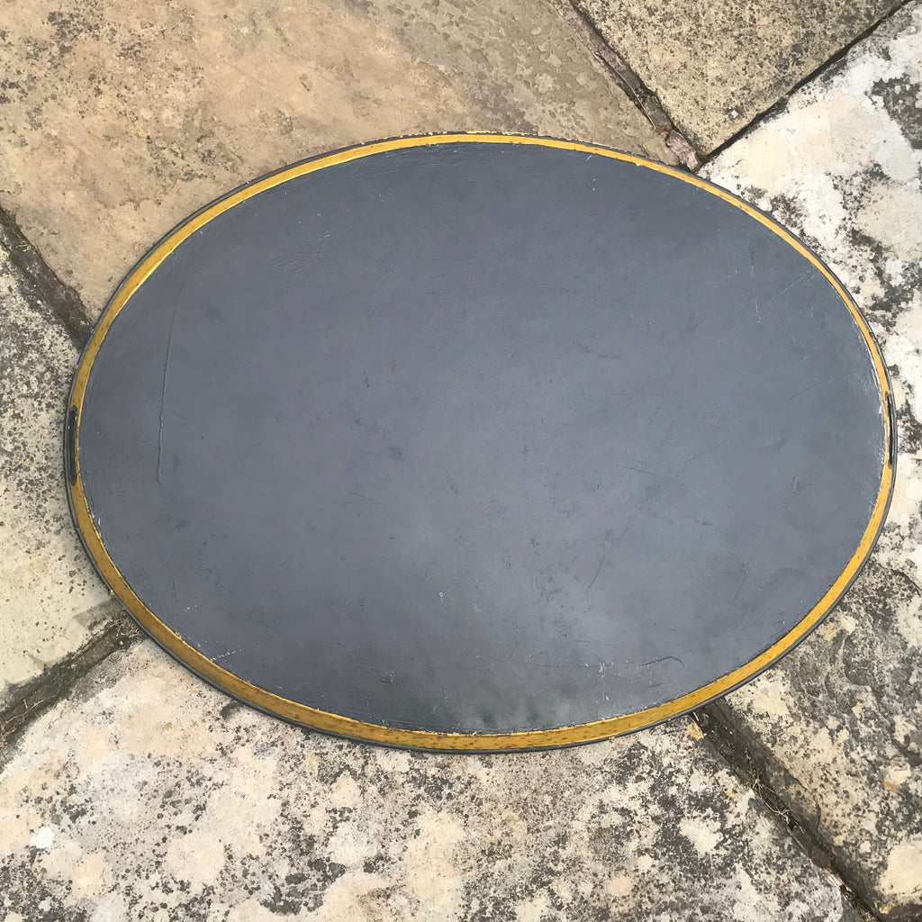 George IV Oval Toleware Tray - Back View - 9
