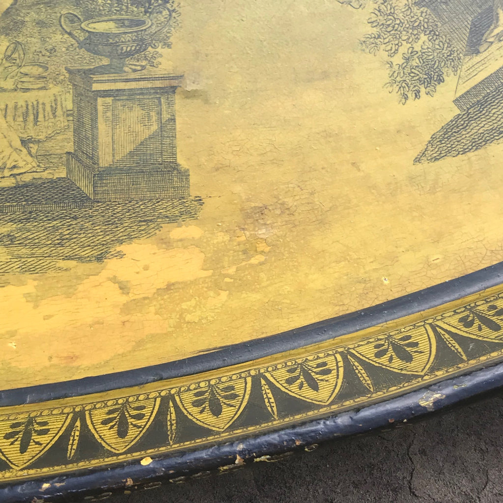 George IV Oval Toleware Tray - Detail View - 3
