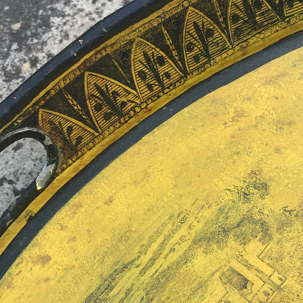 George IV Oval Toleware Tray - Detail View - 4