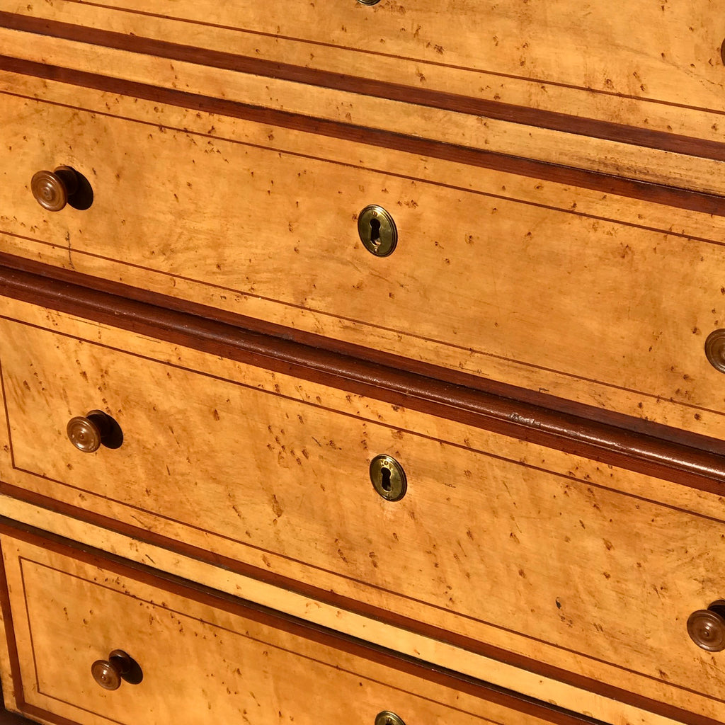 19th Century Painted Chest on Chest with Concave Top - Detail View - 4