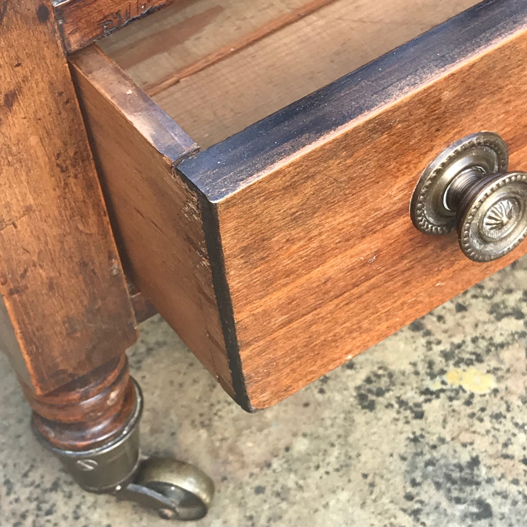 Victorian Mahogany Bobbin Turned Canterbury - Detail View - 5