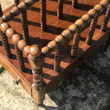 Victorian Mahogany Bobbin Turned Canterbury - Detail View - 3