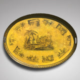 George IV Oval Toleware Tray - Main View - 1