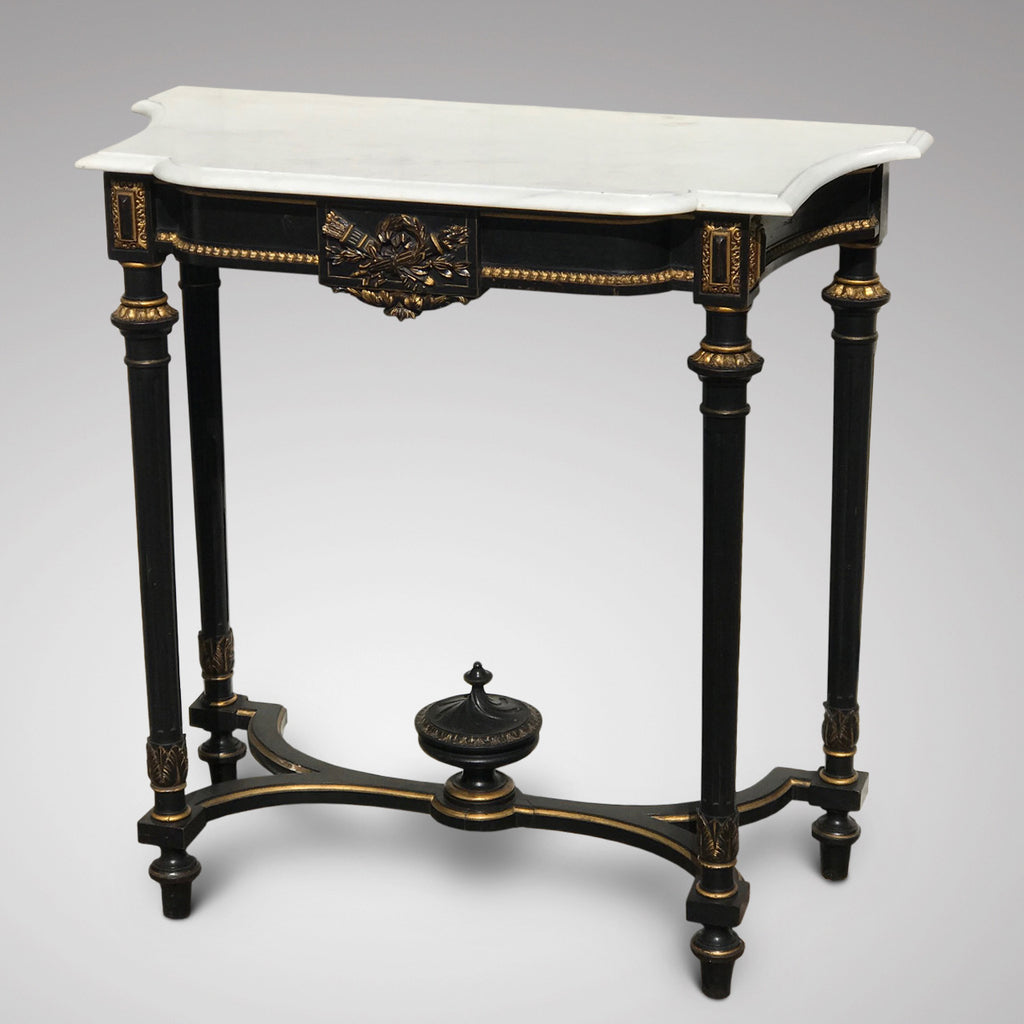 19th Century French Ebonised Console Table - Main View - 1
