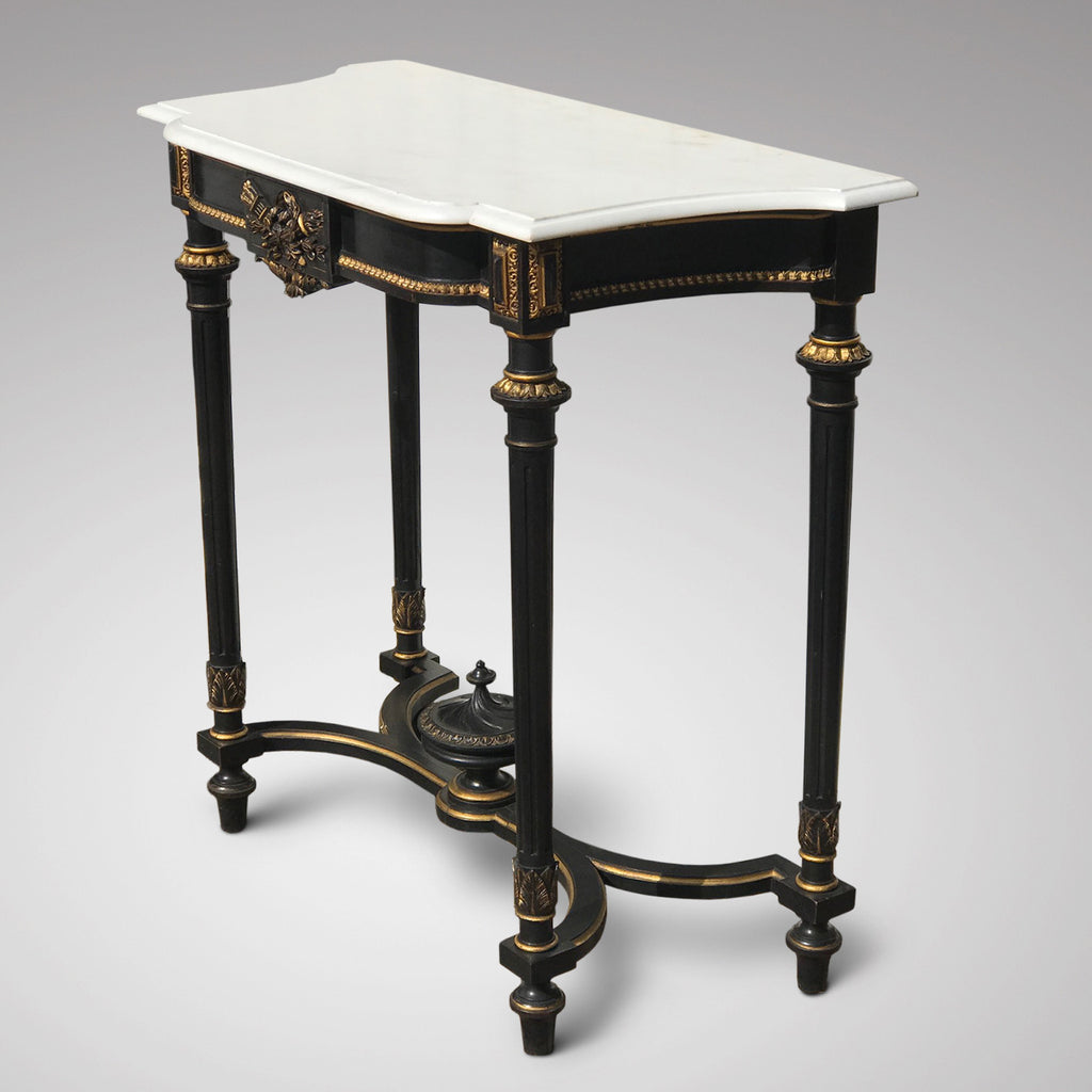 19th Century French Ebonised Console Table - Main View - 2