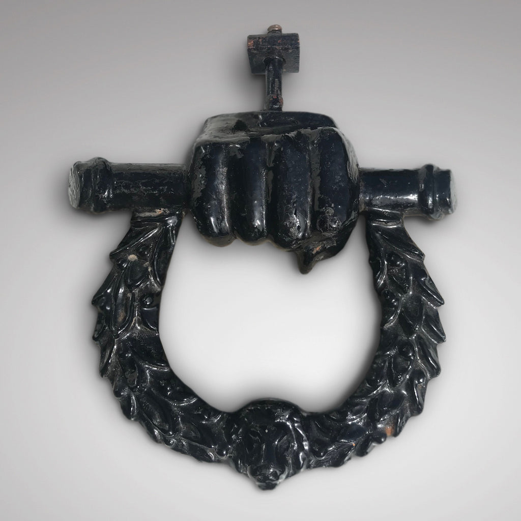 Victorian Cast Iron Door Knocker - Main View - 1