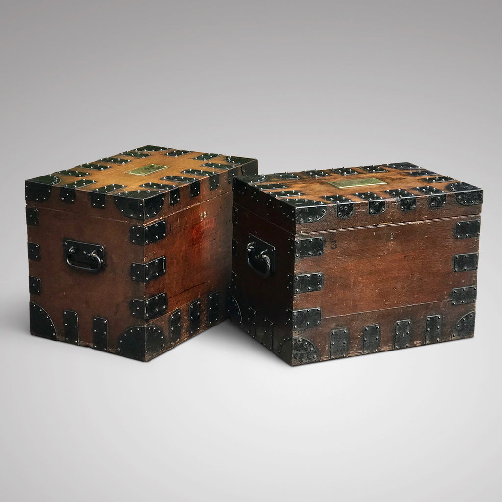 Two 19th Century Oak Silver Chests by Elkington & Co - Main View - 1