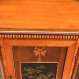 Pair of 19th Century Exhibition Quality Corner Cabinets - Close up View of Top - 5