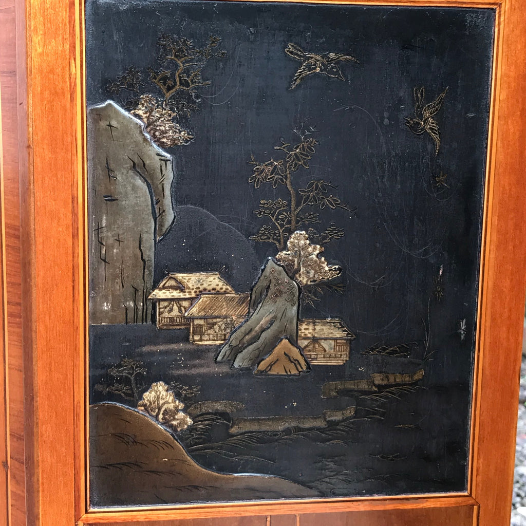 Pair of 19th Century Exhibition Quality Corner Cabinets - Chinoiserie Panel Detail - 7