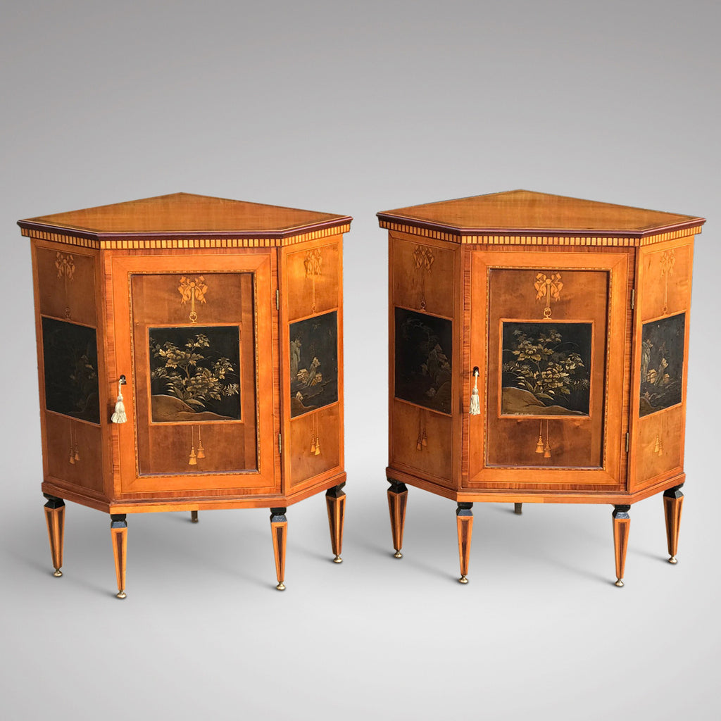 Pair of 19th Century Exhibition Quality Corner Cabinets - Main View - 1