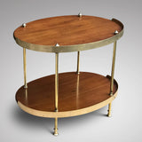 Art Deco Mahogany & Brass Oval Etagere - Back View - 2