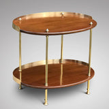 Art Deco Mahogany & Brass Oval Etagere - Main View -1