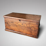 19th Century Elm Blanket Box - Front View - 2
