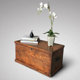 19th Century Elm Blanket Box - Front & Side View - 1