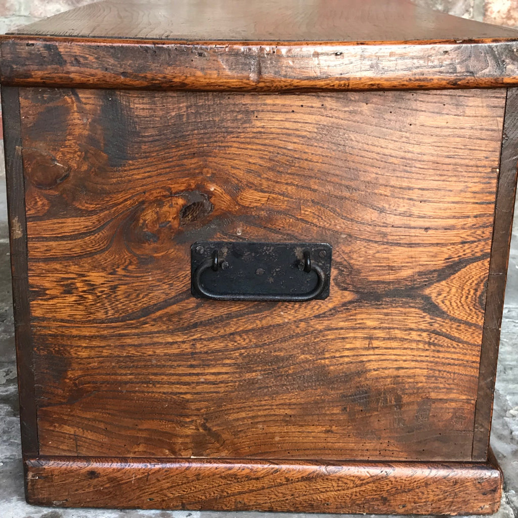 19th Century Elm Blanket Box - Side View - 5