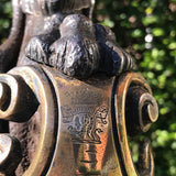 19th Century Iron Door Porter with Stuart Clan Crest - Detail View - 6