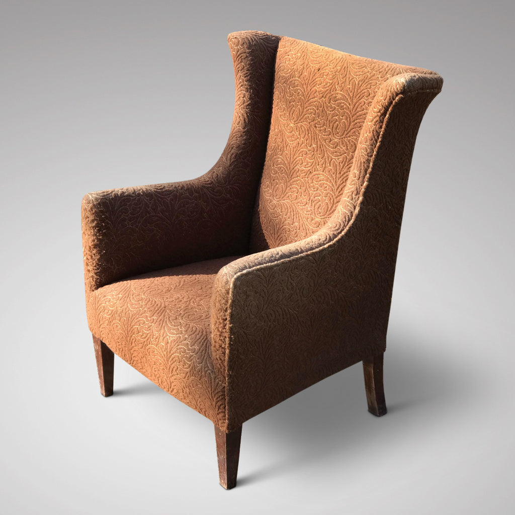 Edwardian Winged Armchair for Reupholstering - Main View - 2