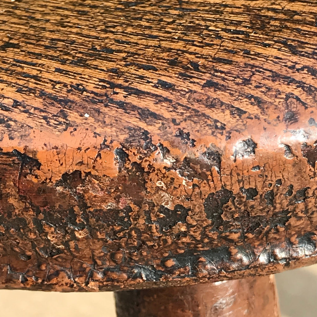 Early 19th Century Welsh Oak Stool - Detail View - 3