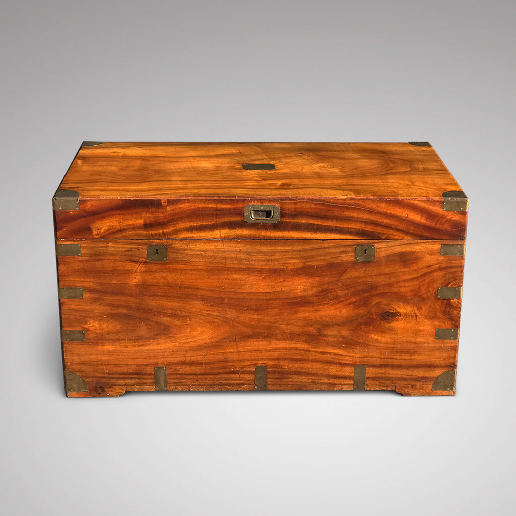 19th Century Ah Foo Camphor Campaign Trunk - Front View - 2