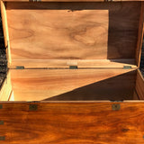 19th Century Ah Foo Camphor Campaign Trunk - Inside View - 4