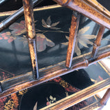 Tiered 19th Century Bamboo & Lacquer Magazine Stand - Detail View - 5