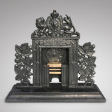 Georgian Cast Iron & Brass Minature Fire Surround