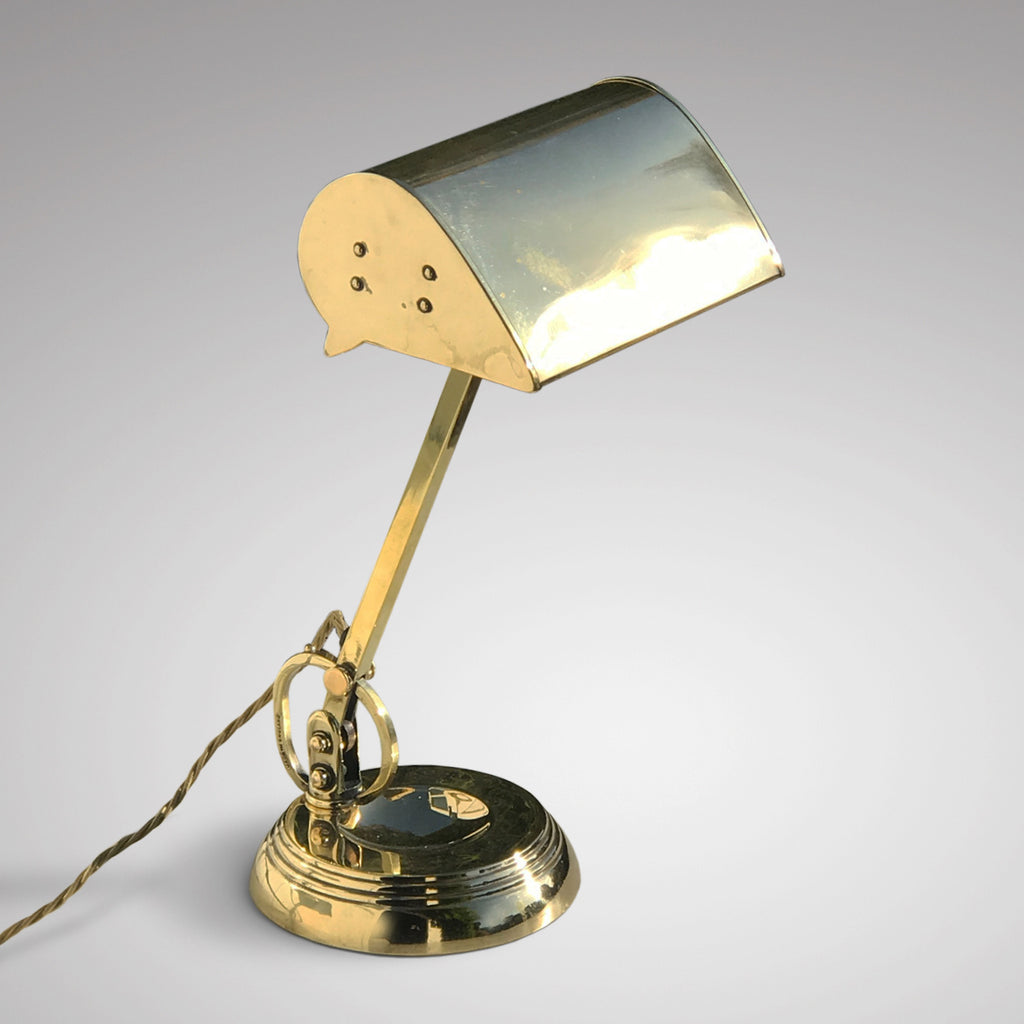 Early 20th Century Brass Desk Lamp - Main View - 1