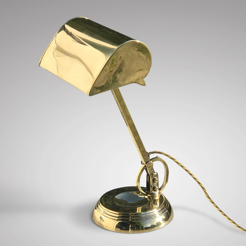 Early 20th Century Brass Desk Lamp - Main View - 2