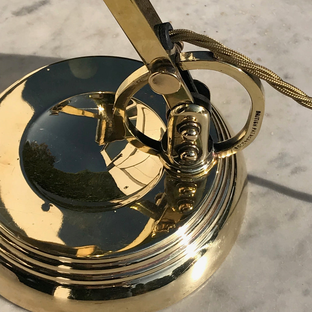 Early 20th Century Brass Desk Lamp - Detail View - 3