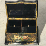 Victorian Serpentine Papier Mache Tea Caddy - Detail View - 5