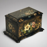 Victorian Serpentine Papier Mache Tea Caddy - Main View - 2