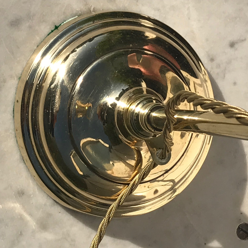 Edwardian Adjustable Brass Desk Lamp - Detail View - 5
