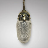 Edwardian Brass & Cut Glass Bombe Pendant Light - Main View - 1