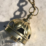 Edwardian Brass & Cut Glass Bombe Pendant Light - Detail View - 4