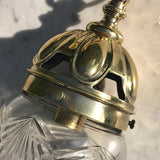 Edwardian Brass & Cut Glass Bombe Pendant Light - Detail View - 3